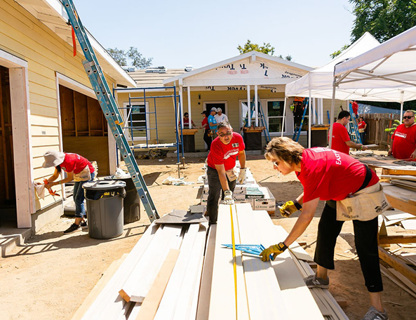 East West Bank Habitat for Humanity Volunteers