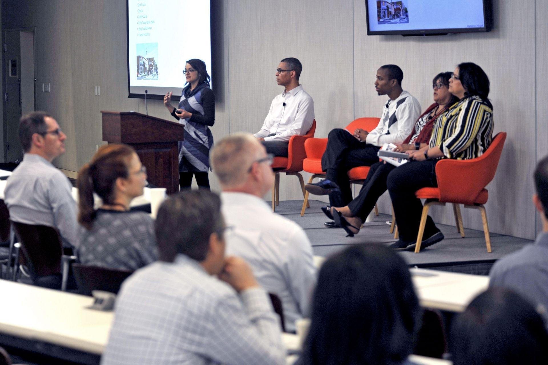 Bina Shrimali speaks at SF Fed panel