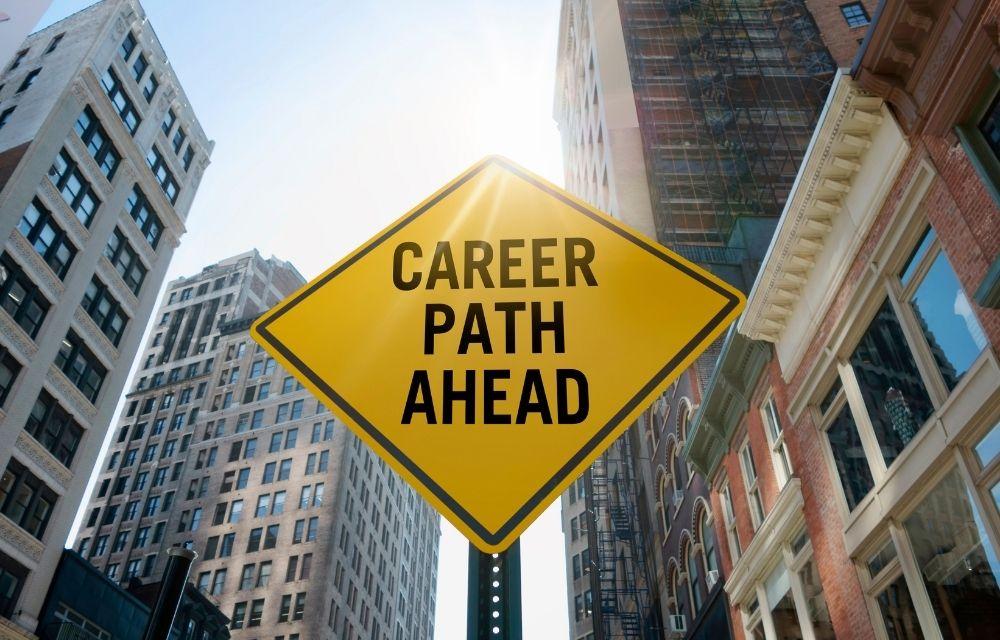 Career path ahead sign