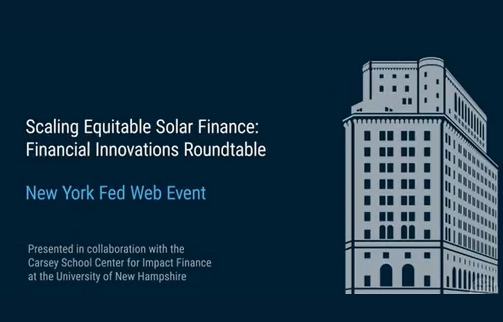 Scaling Equitable Solar Finance Event