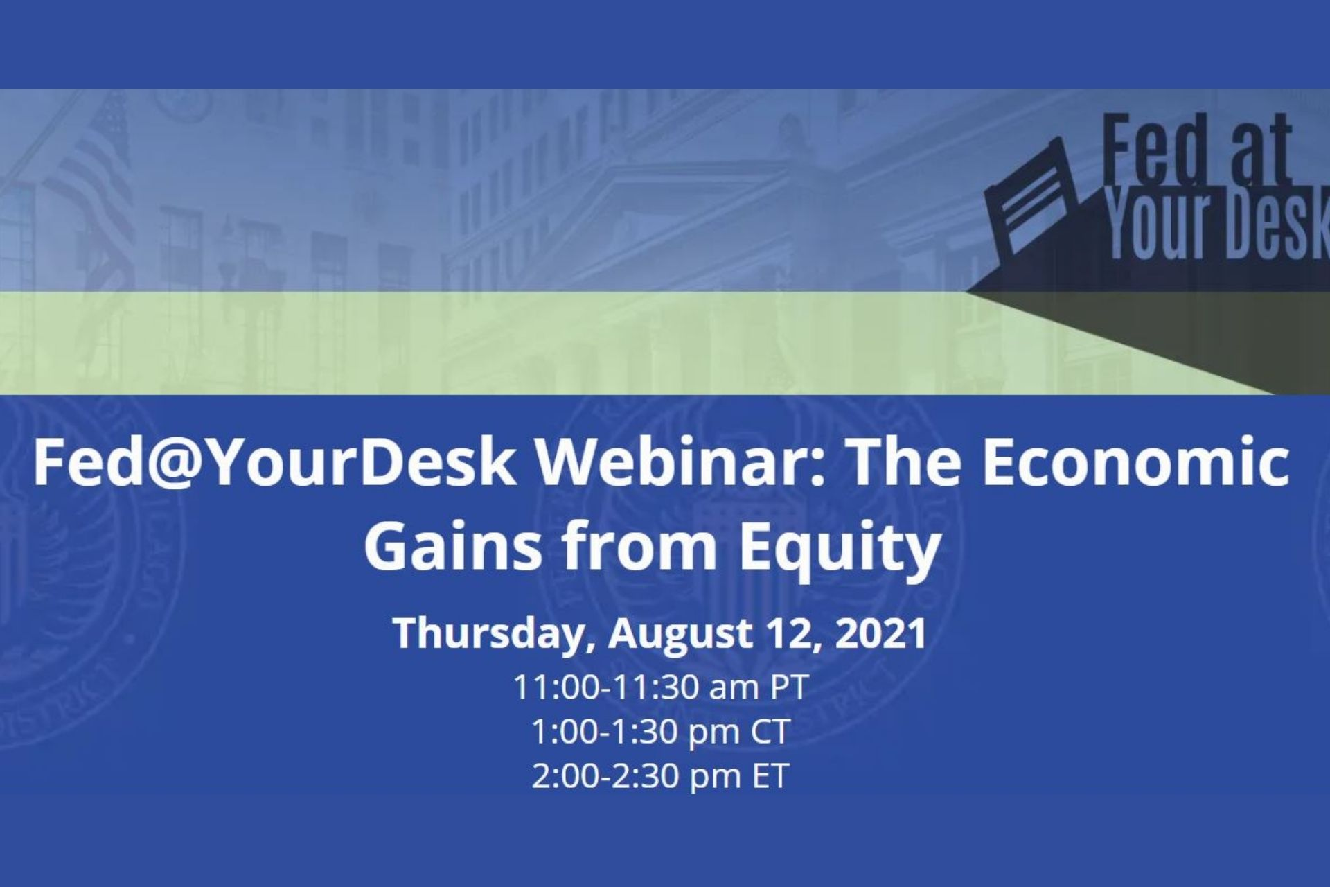 Fed At Your Desk Economic Gains from Equity