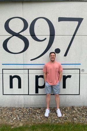 Lucas Misera outside NPR station