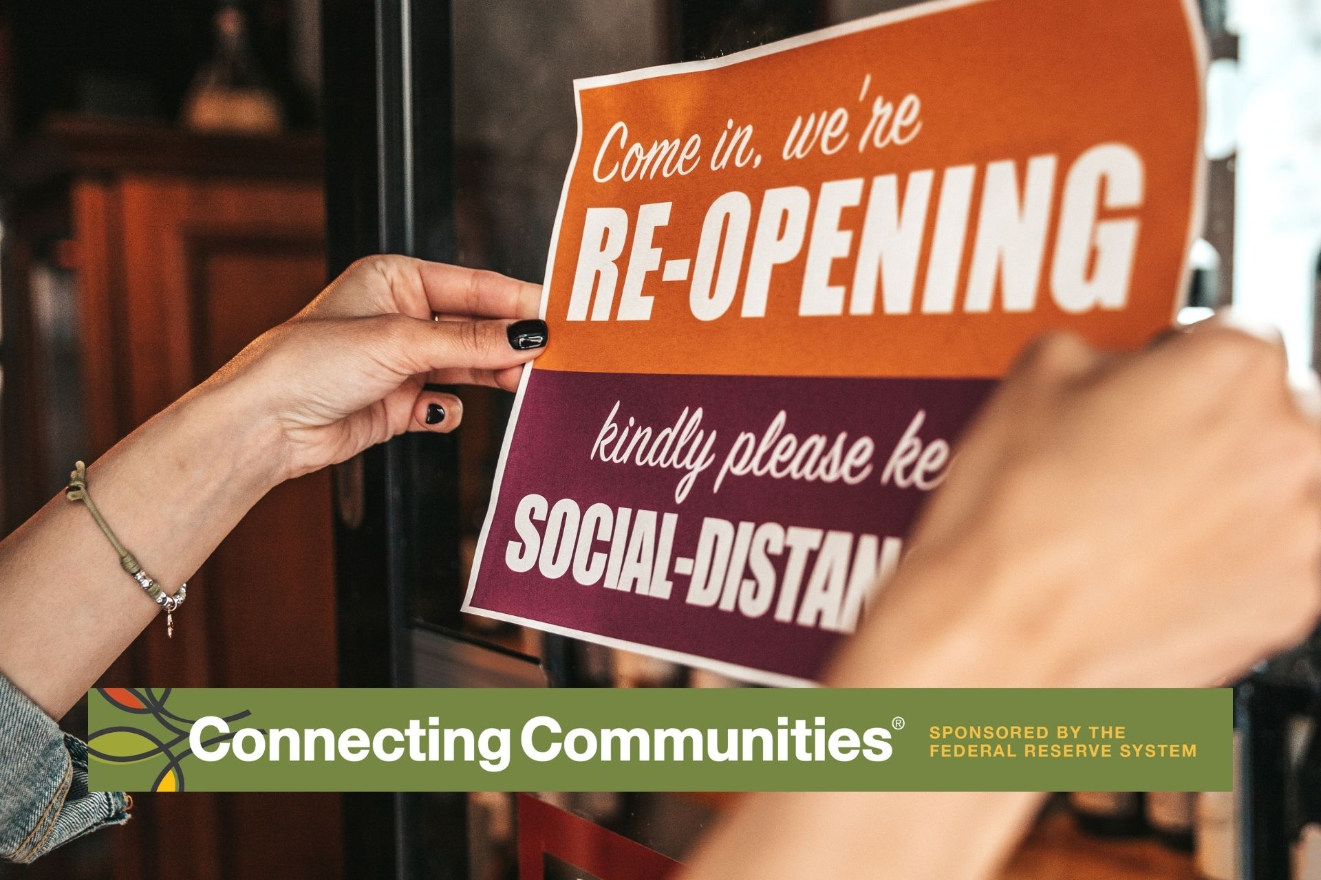 Business re-opening with social distancing