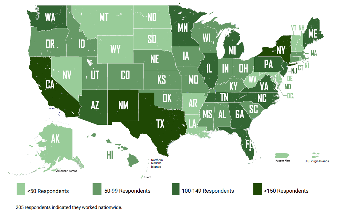 2021 Perspectives from Main Street respondent map
